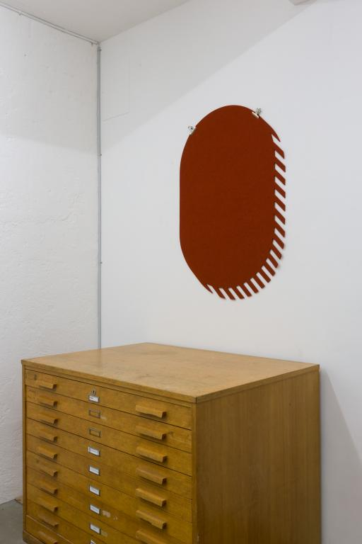 Dimitri Bähler, Ismael Studer, Linn Kandel, <i>Fanions Oblong, rust</i>, pure wool felt, 116 x 88 cm