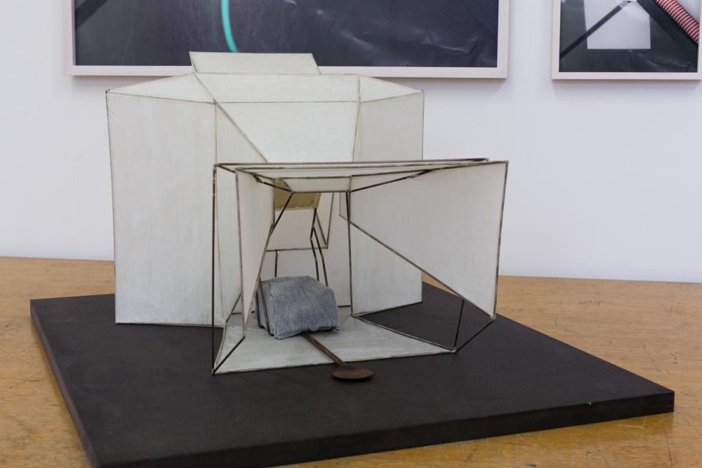 Patrick Hari, <i>Architecture of radiosity / Die Bildermühle</i>, 2011, Japan paper, varnish, metal wire, modeling foam, 46 x 38 x 30 cm