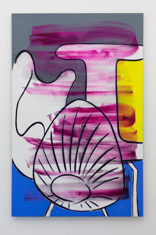 <i>Stühle 3</i>, 2018, Oil on canvas, 210 x 130 cm