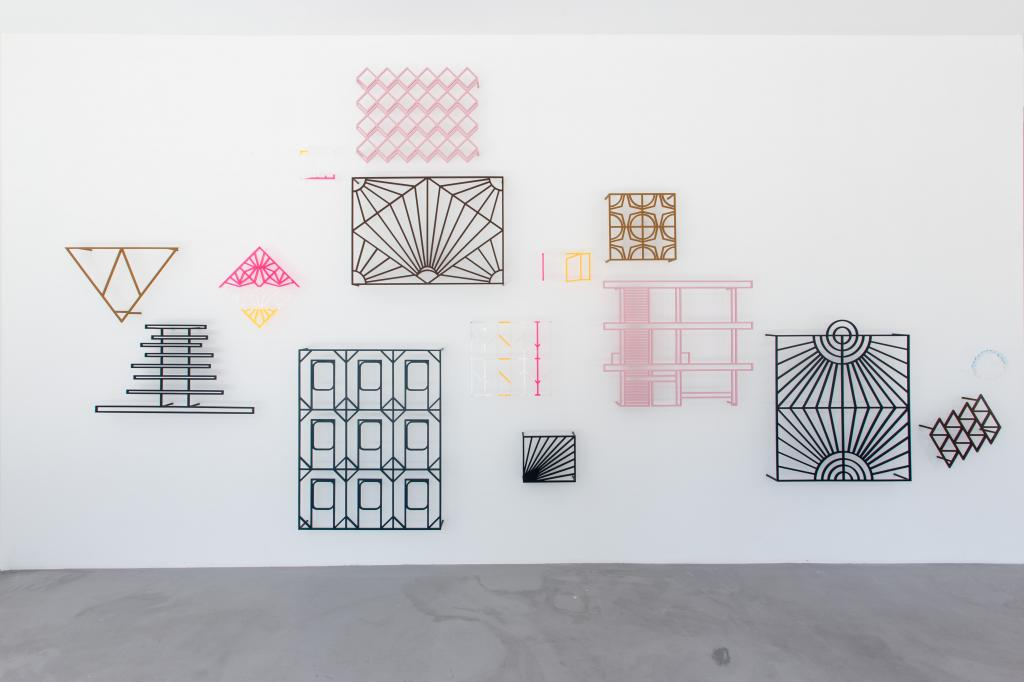 Athene Galiciadis, <i>Sundial</i>, 2017, Plexiglas, acrylics on aluminium, dimensions variable